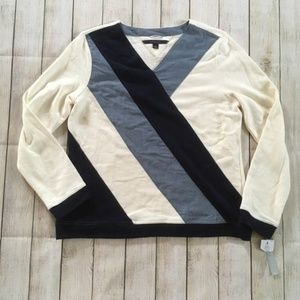 Tommy Hilfiger | Athluxe Colorblock V-neck Sweater